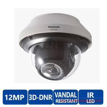 Panasonic WV-SFV781L 4K Outdoor Dome IP Security Camera - 4.2~25.2mm Lens, 1/1.7 MOS, 6x Optical Zoom, Rain Wash Coating, Vandal Resistant