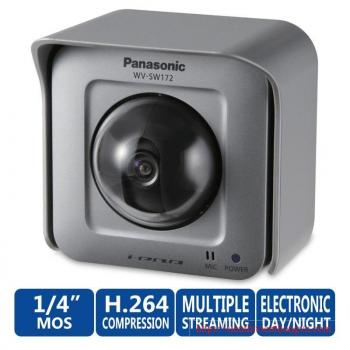 Panasonic WV-SW172 i-PRO SmartHD 1.3 MP Network Cube Security Camera - 1.95mm Fixed Lens, 1/4