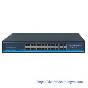 24-Port Gigabit PoE + 4Combo Switch Grandstream S5800P-24G4COMBO