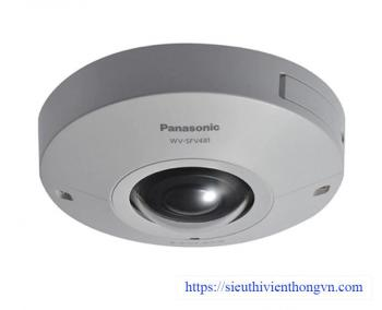 Panasonic WV-SFV481 9MP 360-degree Outdoor Fisheye Dome IP Security Camera - 1.38mm Fisheye Lens, Vandal-Resistant, Built on 4K ULTRA HD Engine