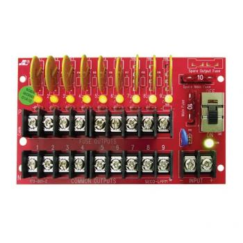 PD-9PSQPower Distribution Board - 9 Outputs, 5A Total, 1.1A each, PTC Fuses