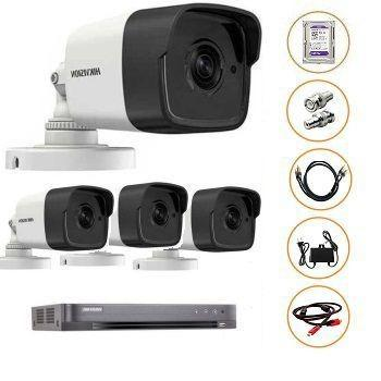 BỘ 04 CAMERA FULL-HD 3MP DS-2CE16F1T-IT GỒM ĐẦU GHI DS-7204HQHI-K1