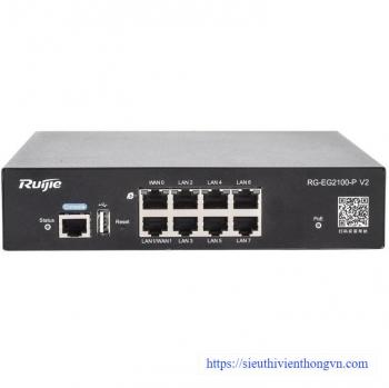 8-port 1000BASE-T Smart Gateway RUIJIE RG-EG2100-P V2
