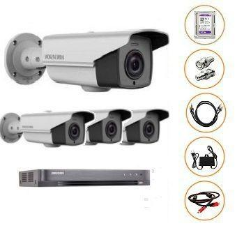 BỘ 04 CAMERA FULL-HD 2MP DS-2CE16D0T-IT3 GỒM ĐẦU GHI DS-7204HQHI-K1