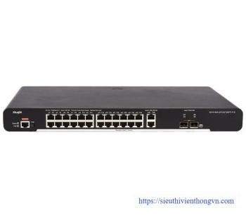 24-port 10/100Base-T Managed PoE Switch RUIJIE XS-S1920-24T2GT2SFP-P-E