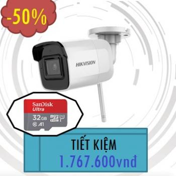 CAMERA HIKVISION IP WIFI 2MP DS-2CD2021G1-IDW1 TẶNG 01 THẺ NHỚ 32GB