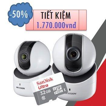 CAMERA HIKVISION IP WIFI ROBO 2MP DS-2CV2Q21FD-IW TẶNG 01 THẺ NHỚ 32GB