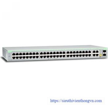 48-port 10/100TX + 2 10/100/1000T + 2 SFP/1000T Switch ALLIED TELESIS AT-FS750/52