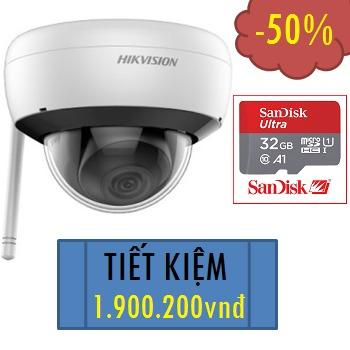 CAMERA HIKVISION IP WIFI 2MP DS-2CD2121G1-IDW1 TẶNG 01 THẺ NHỚ 32GB