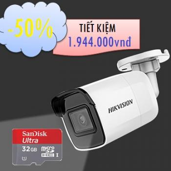 CAMERA HIKVISION IP WIFI 2MP DS-2CD2021G1-IW TẶNG 01 THẺ NHỚ 32GB