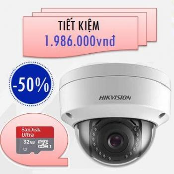 CAMERA HIKVISION IP WIFI 2MP DS-2CD2121G0-IW TẶNG 01 THẺ NHỚ 32GB