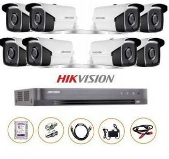 BỘ 08 CAMERA FULL-HD 3MP DS-2CE16F1T-IT GỒM ĐẦU GHI DS-7208HQHI-K1