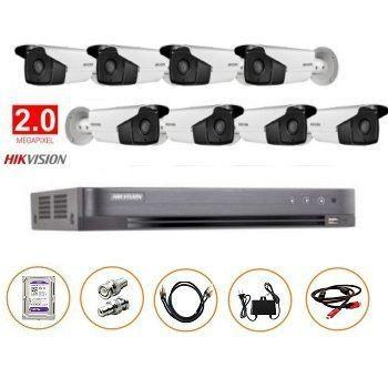 BỘ 08 CAMERA FULL-HD 2MP DS-2CE16D0T-IT3 GỒM ĐẦU GHI DS-7208HQHI-K1