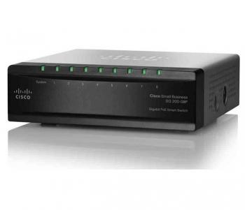 8-port Gigabit PoE Smart Switch Cisco SG200-08P