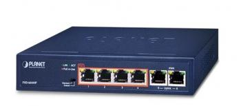 4-Port 10/100TX PoE + 2-Port 10/100TX Switch PLANET FSD-604HP