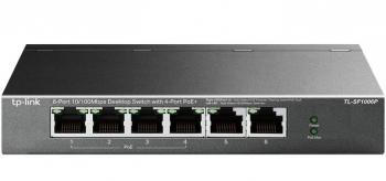 6-port 10/100Mbps with 4-port PoE+ Switch TP-LINK TL-SF1006P