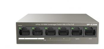 4-port 10/100Mbps PoE Switch IP-COM F1106P-4-63W
