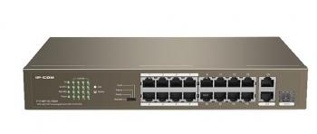 16-Port PoE 10/100Mbps PoE Switch IP-COM F1118P-16-150W