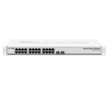 24-Port 10/100/1000 Ethernet+2-Port SFP Switch Mikrotik CSS326-24G-2S+RM