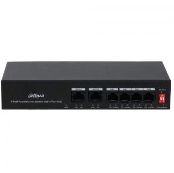 4-port 10/100Mbps PoE Switch DAHUA DH-PFS3006-4ET-36