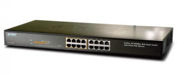 16-port 10/100Mbps with 8 port PoE Switch PLANET FNSW-1608PS