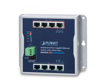 8-Port 10/100/1000T with 4-Port PoE+ Wall Mounted Switch PLANET WGS-804HP