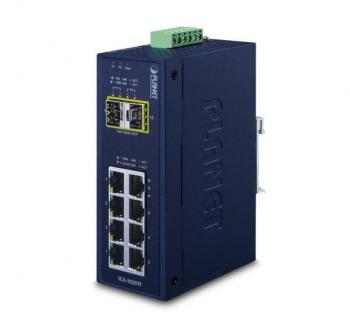 8-Port 10/100/1000T + 2 1000X SFP Ethernet Switch PLANET IGS-1020TF