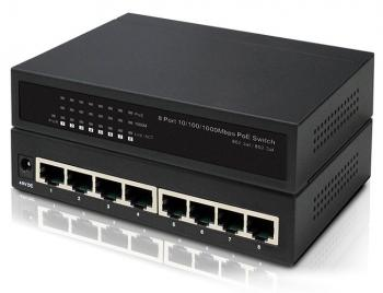 8-Port 10/100/1000Mbps PoE Switch IONNET IGE-808 (65 Watt)