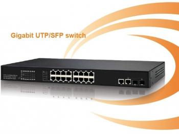16-Port 10/100Mbps PoE Switch IONNET IFS-1616 (250Watt)
