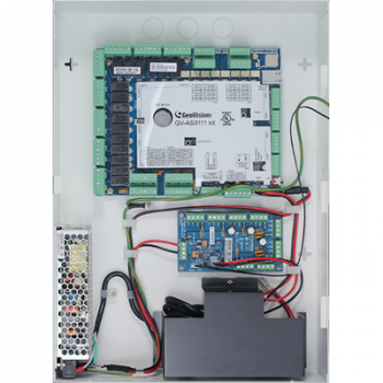 Geovision GV-AS8111 Kit 84-AS8111KT-001U - 8 Door Panel + PowerBoard + IronCase