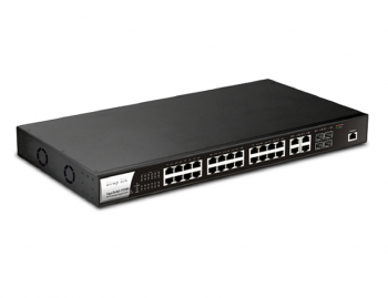 24-Port PoE L2 Managed Gigabit Switch DrayTek Vigor P2280
