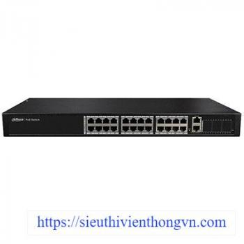 24-port 10/100Mbps PoE Switch DAHUA PFS4026-24P-370