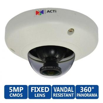 ACTi E96 5MP Indoor 360-degree Fisheye IP Security Camera - WDR