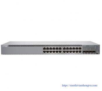 24-Port 10/100/1000 Ethernet PoE+ with 4-port SFP/SFP+ Switch JUNIPER EX2300-24P
