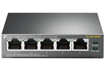 5-Port Gigabit with PoE Desktop Switch TP-LINK TL-SG1005P