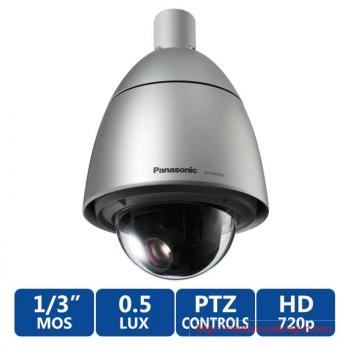 Panasonic WV-SW395A 1MP PTZ Dome IP Security Camera - 30fps at 720P, 18x Optical Zoom, Built-in fan/heater/sun shield